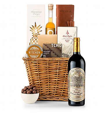 Premium Wine Baskets: Far Niente Estate Bottled Cabernet Sauvignon 2013 Sand Hill Road Luxury Gift Basket