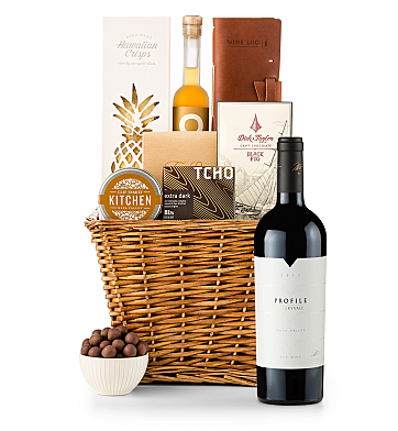 Premium Wine Baskets: Merryvale Profile 2012 Sand Hill Road Luxury Gift Basket