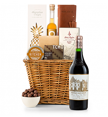 Premium Wine Baskets: Chateau Haut-Brion 2006 Sand Hill Road Luxury Gift Basket