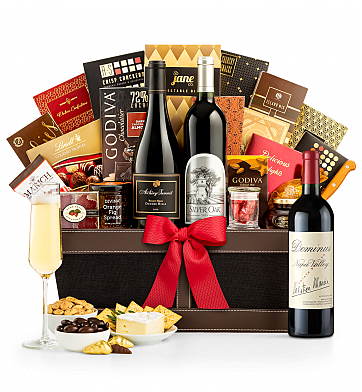 Premium Wine Baskets: Dominus Estate 2013 Prestige Luxury Wine Basket