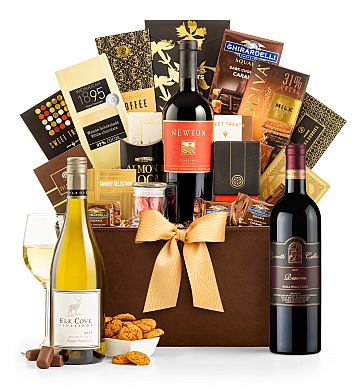Premium Wine Baskets: Leonetti Reserve Red 2012 Madison Avenue Luxury Wine Basket