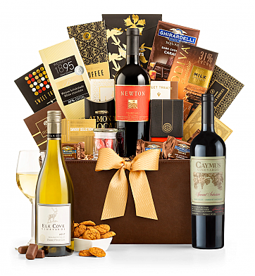 Premium Wine Baskets: Caymus Special Selection 2014 Madison Avenue Luxury Wine Basket