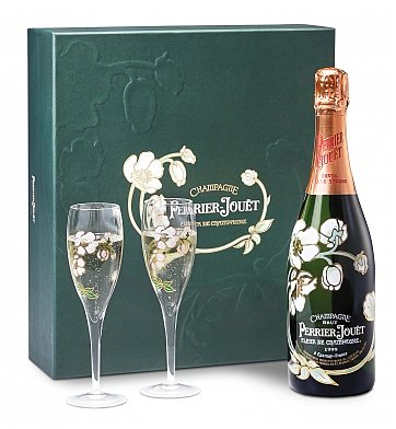 Personalized Wine Gifts: Perrier-Jouet Champagne Gift Set