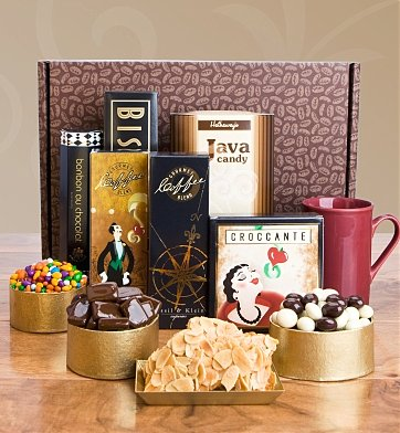Chocolate & Sweet Baskets: The Coffeehouse Gift Set