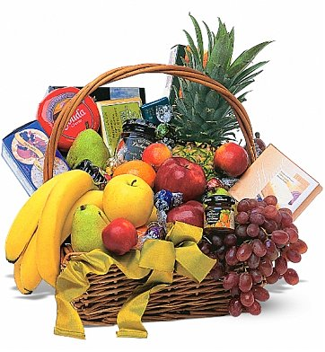 Food & Fruit Baskets: Romantic Fruit and Gourmet Basket