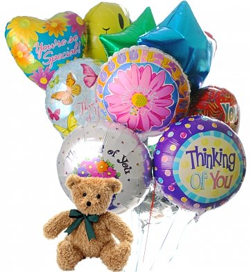 Balloons & Bear: Friendship Day Balloons & Bear-12 Mylar
