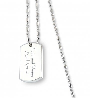 Personalized Keepsake Gifts: Engraved Dog Tag Remembrance Necklace