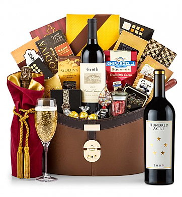 Premium Wine Baskets: Hundred Acre Ark Vineyard Cabernet Sauvignon 2009 Windsor Luxury Gift Basket