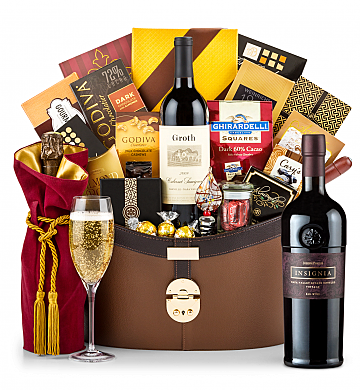 Premium Wine Baskets: Joseph Phelps Napa Valley Insignia Red 2012 Windsor Luxury Gift Basket