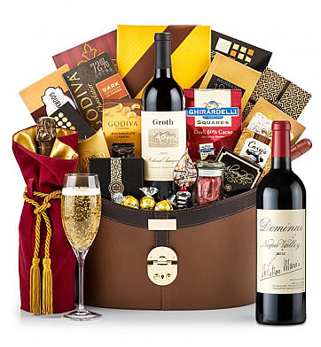 Premium Wine Baskets: Dominus Estate 2012 Windsor Luxury Gift Basket