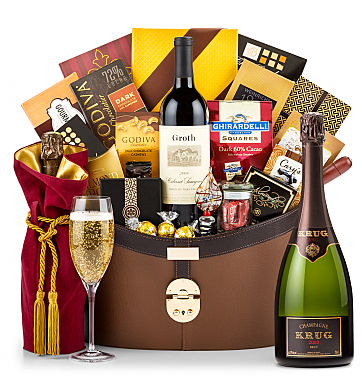 Premium Wine Baskets: Krug 2003 Windsor Luxury Gift Basket