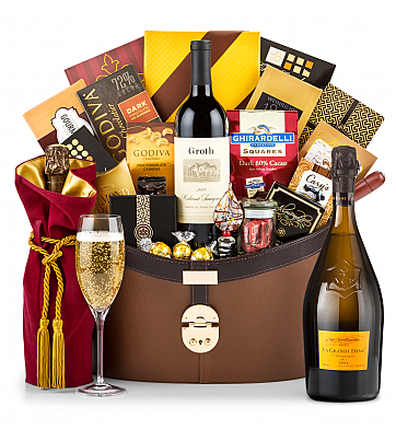 Premium Wine Baskets: Veuve Clicquot La Grande Dame 2006 Windsor Luxury Gift Basket