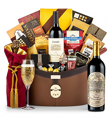 Premium Wine Baskets: Far Niente Estate Bottled Cabernet Sauvignon 2012 Windsor Luxury Gift Basket