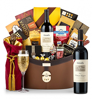 Premium Wine Baskets: Groth Reserve Cabernet Sauvignon 2012 Windsor Luxury Gift Basket