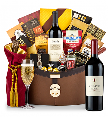 Premium Wine Baskets: Verite La Joie Cabernet Sauvignon 2009 Windsor Luxury Gift Basket