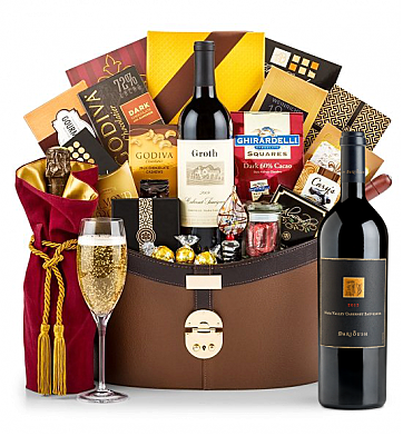 Premium Wine Baskets: Darioush Signature Cabernet Sauvignon 2013 Windsor Luxury Gift Basket