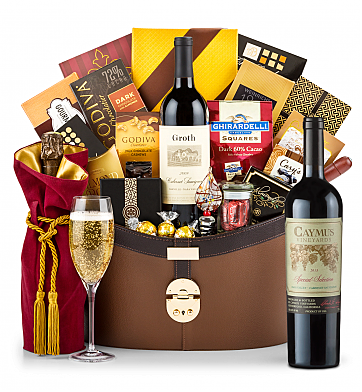 Champagne Baskets: Caymus Special Selection Cabernet Sauvignon 2013 Windsor Luxury Gift Basket