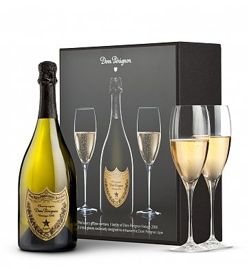Champagne Gift Baskets: Dom Perignon Collector's Gift Set