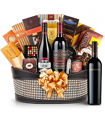 Premium Wine Baskets: Cardinale Cabernet Sauvignon Wine Basket - Martha's Vineyard