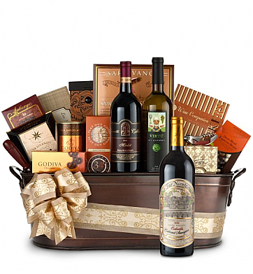 Premium Wine Baskets: Far Niente Cabernet Sauvignon Wine Basket - Martha's Vineyard