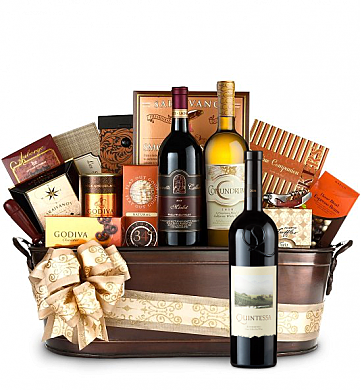 Premium Wine Baskets: Quintessa Meritage Red Wine Basket - Martha's Vineyard