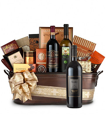 Premium Wine Baskets: Shafer Hillside Select Cabernet Sauvignon 2008 Wine Basket - Martha's Vineyard