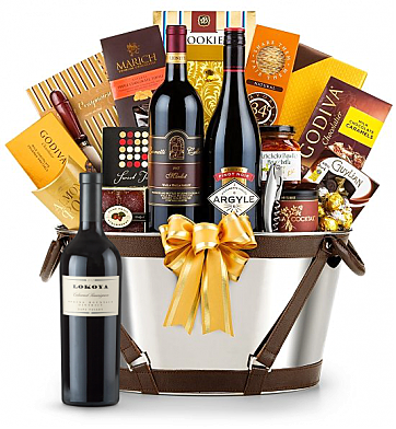 Premium Wine Baskets: Lokoya Cabernet Sauvignon Wine Basket - Martha's Vineyard