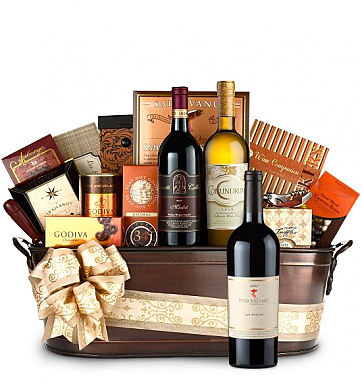 Premium Wine Baskets: Peter Michael 2007 Wine Basket - Martha's Vineyard