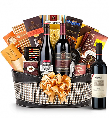 Premium Wine Baskets: Groth Reserve Cabernet Sauvignon Wine Basket - Martha's Vineyard