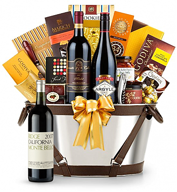 Premium Wine Baskets: Ridge Monte Bello Wine Basket - Martha's Vineyard