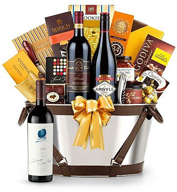 Premium Wine Baskets: Opus One Wine Basket - Martha's Vineyard