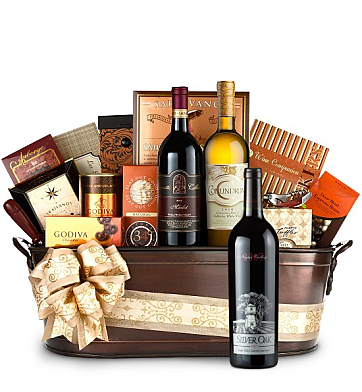 Premium Wine Baskets: Silver Oak Wine Basket - Martha's Vineyard