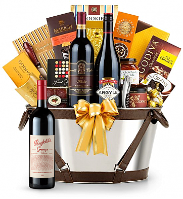 Premium Wine Baskets: Penfolds Grange Wine Basket - Martha's Vineyard