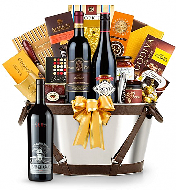 Premium Wine Baskets: Silver Oak Napa Valley Cabernet Sauvignon 2008 - Martha's Vineyard Luxury Wine Basket