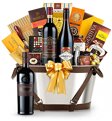 Premium Wine Baskets: Joseph Phelps Insignia Red 2011 - Martha's Vineyard Luxury Wine Basket