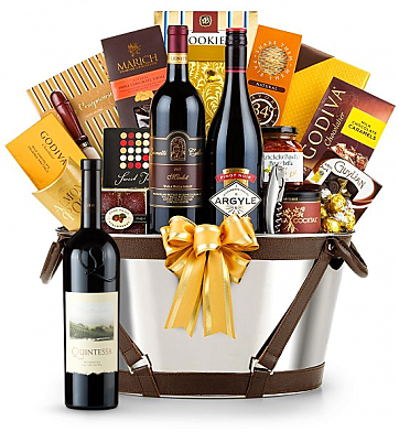 Premium Wine Baskets: Quintessa Meritage 2010 Red - Martha's Vineyard Luxury Wine Basket