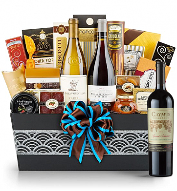 Premium Wine Baskets: Caymus Special Selection Cabernet Sauvignon 2010 Wine Basket - Cape Cod