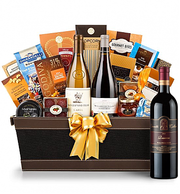 Premium Wine Baskets: Leonetti Reserve Wine Basket - Cape Cod