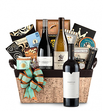 Premium Wine Baskets: Merryvale Profile Wine Basket - Cape Cod
