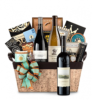 Premium Wine Baskets: Quintessa Meritage Red Wine Basket - Cape Cod