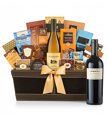 Premium Wine Baskets: Lokoya Spring Mountain Cabernet Sauvignon 2007 - Cape Cod Luxury Wine Basket