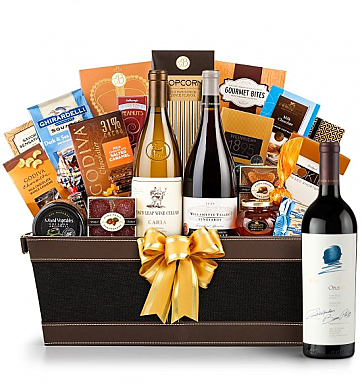 Premium Wine Baskets: Opus One Wine Basket - Cape Cod