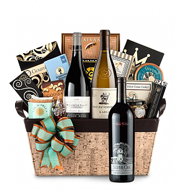Premium Wine Baskets: Silver Oak Wine Basket - Cape Cod