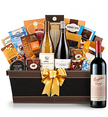 Premium Wine Baskets: Penfolds Grange Wine Basket - Cape Cod