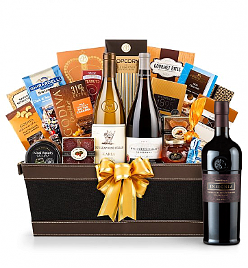 Premium Wine Baskets: Joseph Phelps Insignia Wine Basket - Cape Cod