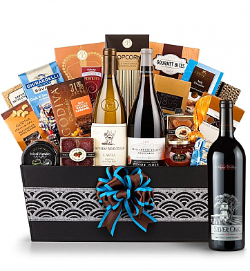 Premium Wine Baskets: Silver Oak 2008 - Cape Cod  Luxury Wine Basket