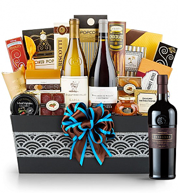 Premium Wine Baskets: Joseph Phelps Napa Valley Insignia Red 2009 - Cape Cod Luxury Wine Basket