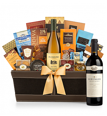 Premium Wine Baskets: Beringer Private Reserve Cabernet Sauvignon 2012 - Cape Cod Luxury Wine Basket