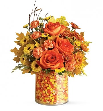 Flower Bouquets: Candy Corn Surprise
