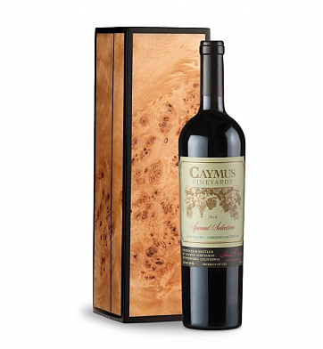 Wine Gift Boxes: Caymus Special Selection Cabernet Sauvignon in Handcrafted Burlwood Box